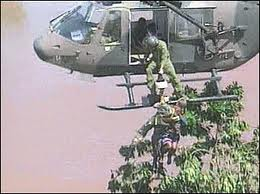 2000 floods a helicopter rescue - part of the company's foundations